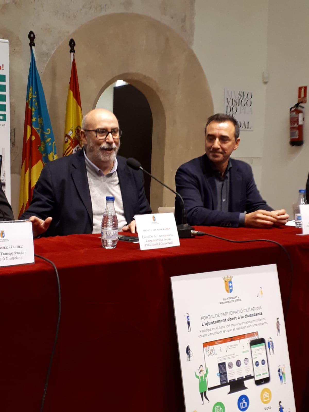 """El conseller Alcaraz ha destacado la importancia de esta """"nueva herramienta de transparencia""""."""