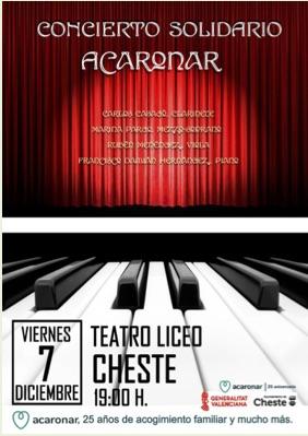 Cartel del concierto en Cheste.Cartel del concierto en Cheste.