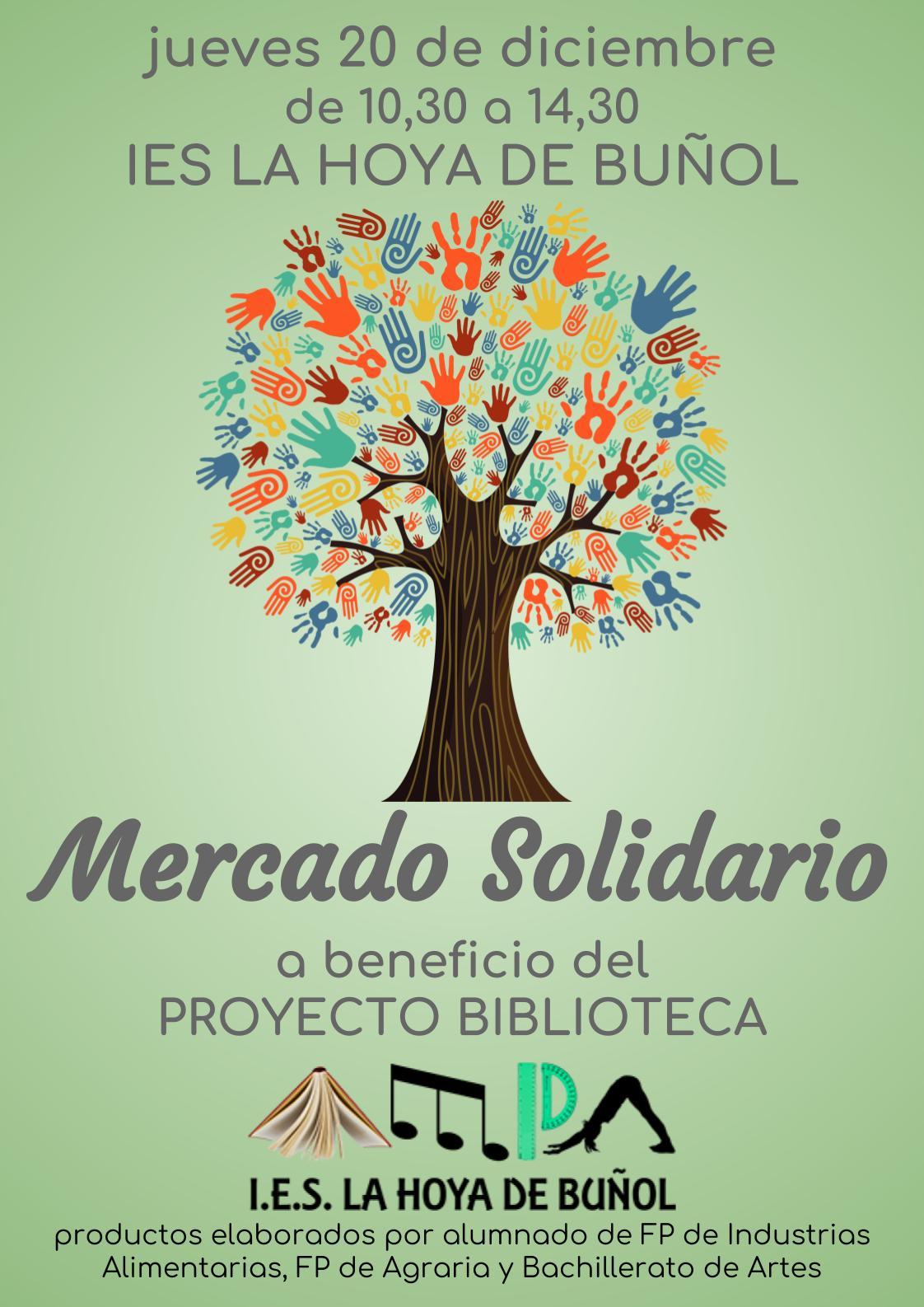 El próximo jueves 20 de diciembre, la AMPA del IES La Hoya de Buñol organiza un Mercado Solidario en el propio instituto.