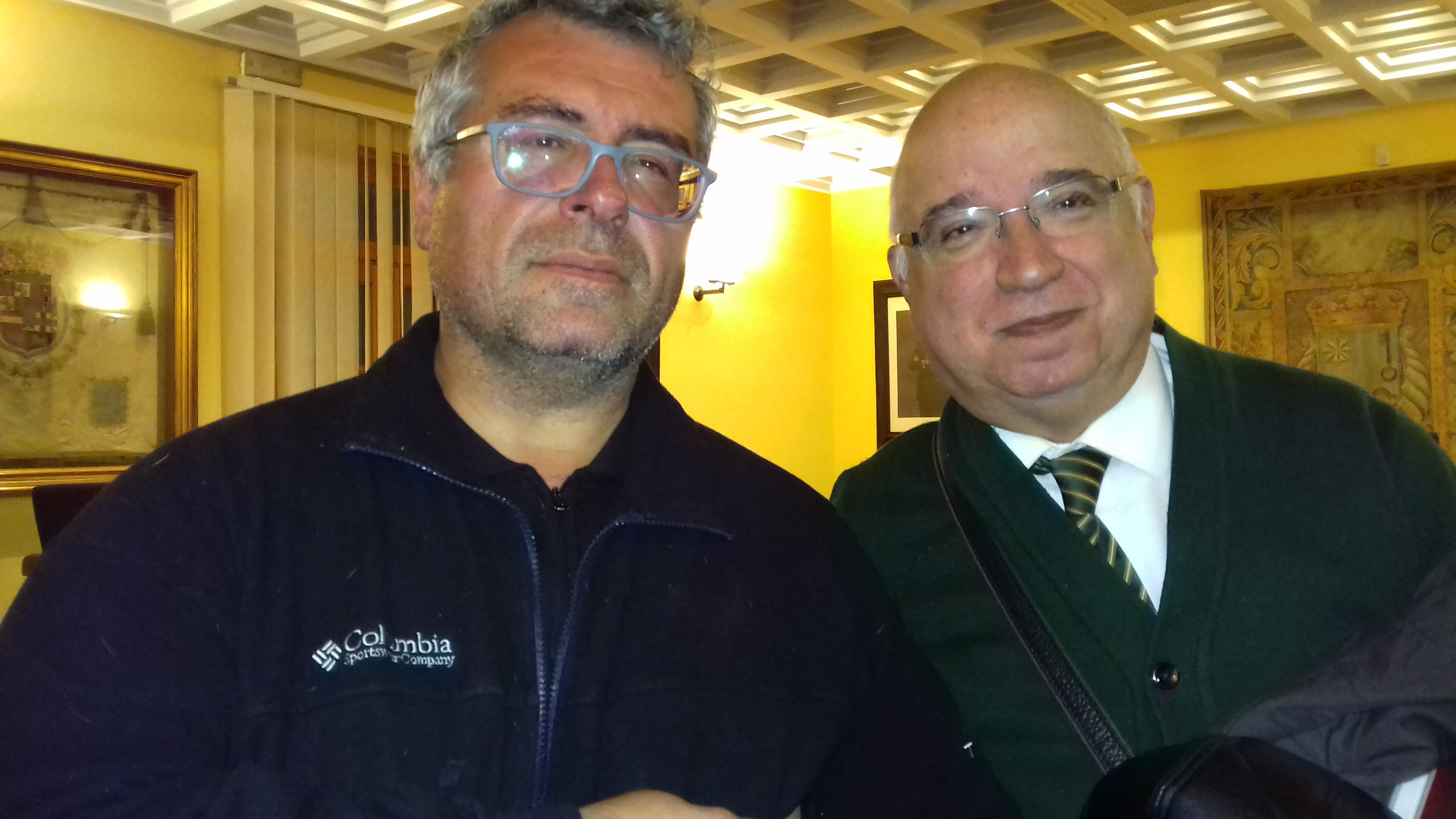 Elías Ramírez con Antonio Moya.