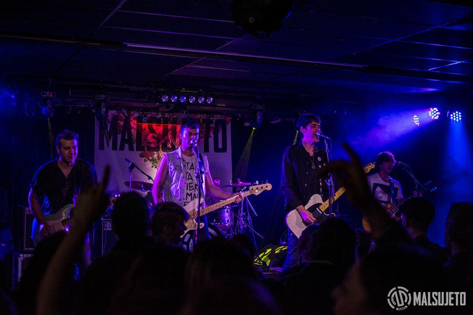 El grupo buñolense Malsujeto durante uno de sus conciertos.