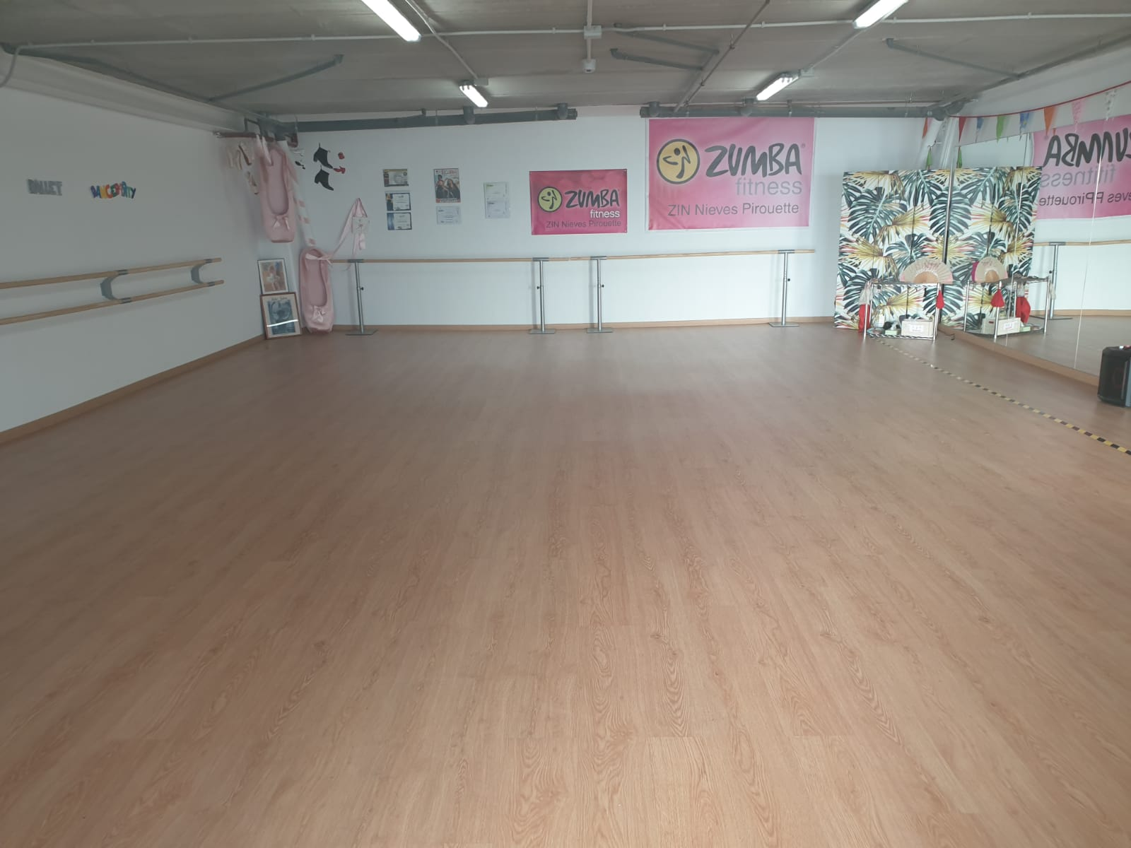 La escuela municipal de danza ya cuenta con una nueva sala totalmente acondicionada para realizar la actividad.
