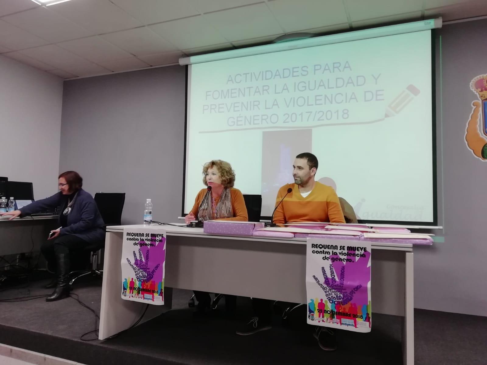 Actividad promovida por la Concejalía de Igualdad dentro de la campaña contra la Violencia de Género.