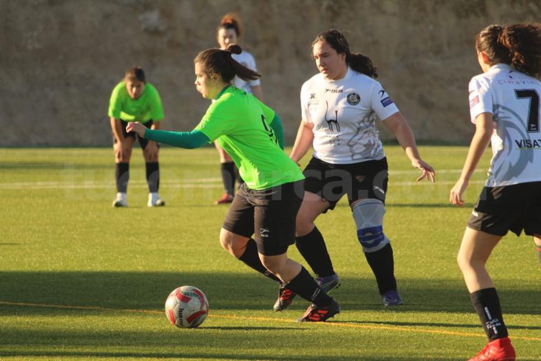 La UD Yátova femenino se ha impuesto al Ontinyent A. Foto: Raúl Miralles.