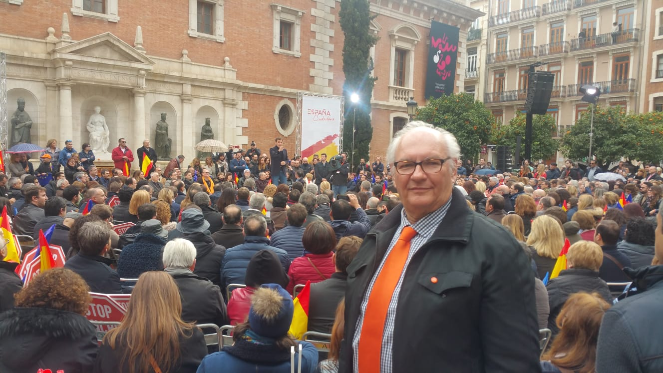 Elio Zanón durante el acto desarrollado por Ciudadanos en València días atrás.