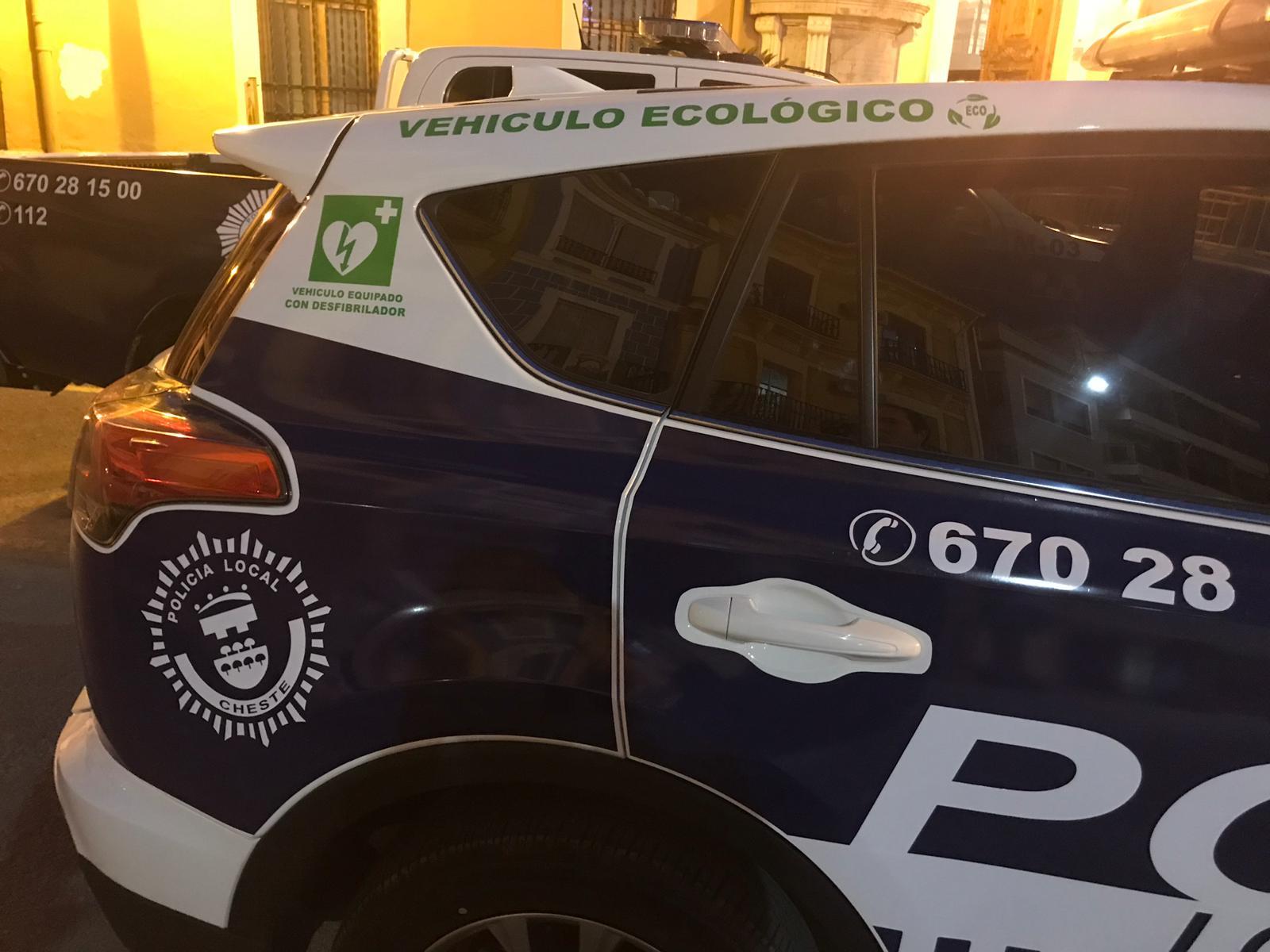 Nuevo vehículo híbrido de la Policía Local de Cheste.