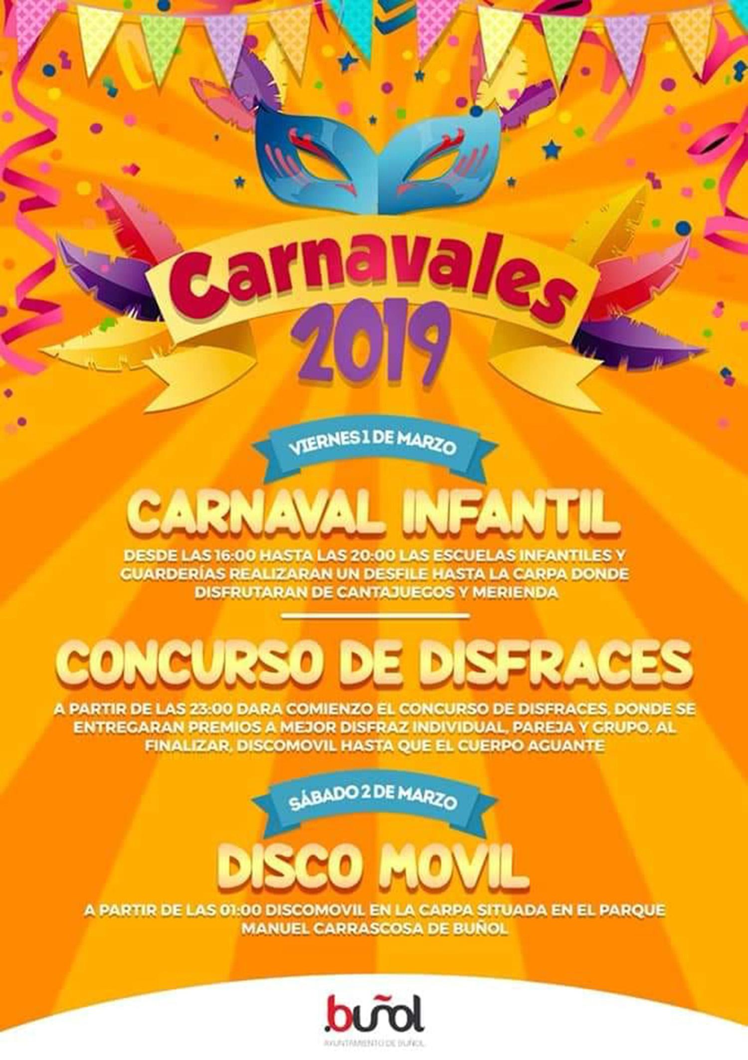 Buñol celebra un fin de semana de Carnavales para todos.