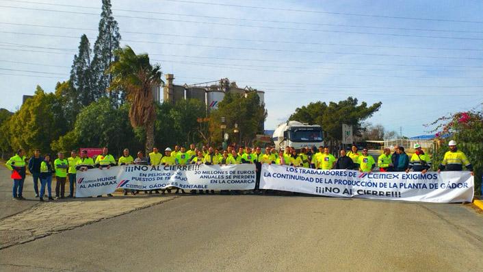Movilizaciones realizadas en las plantas de Gádor y Lloseta.