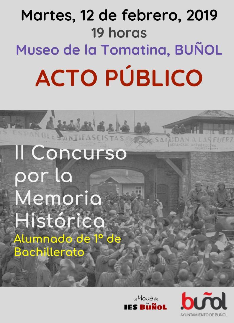 Esta es la 2a edición del concurso, abierto al alumnado de 1o de Bachillerato.