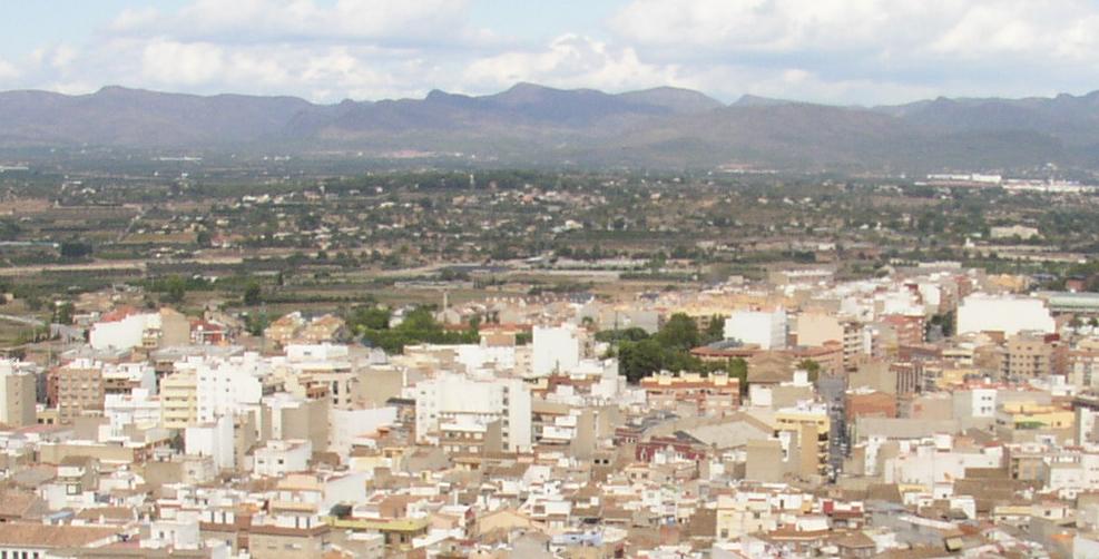 Imagen panorámica de la población de Llíria.