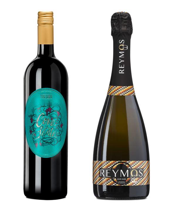 El vinos Cova Santa 2017 y el espumoso de moscatel Reymos.