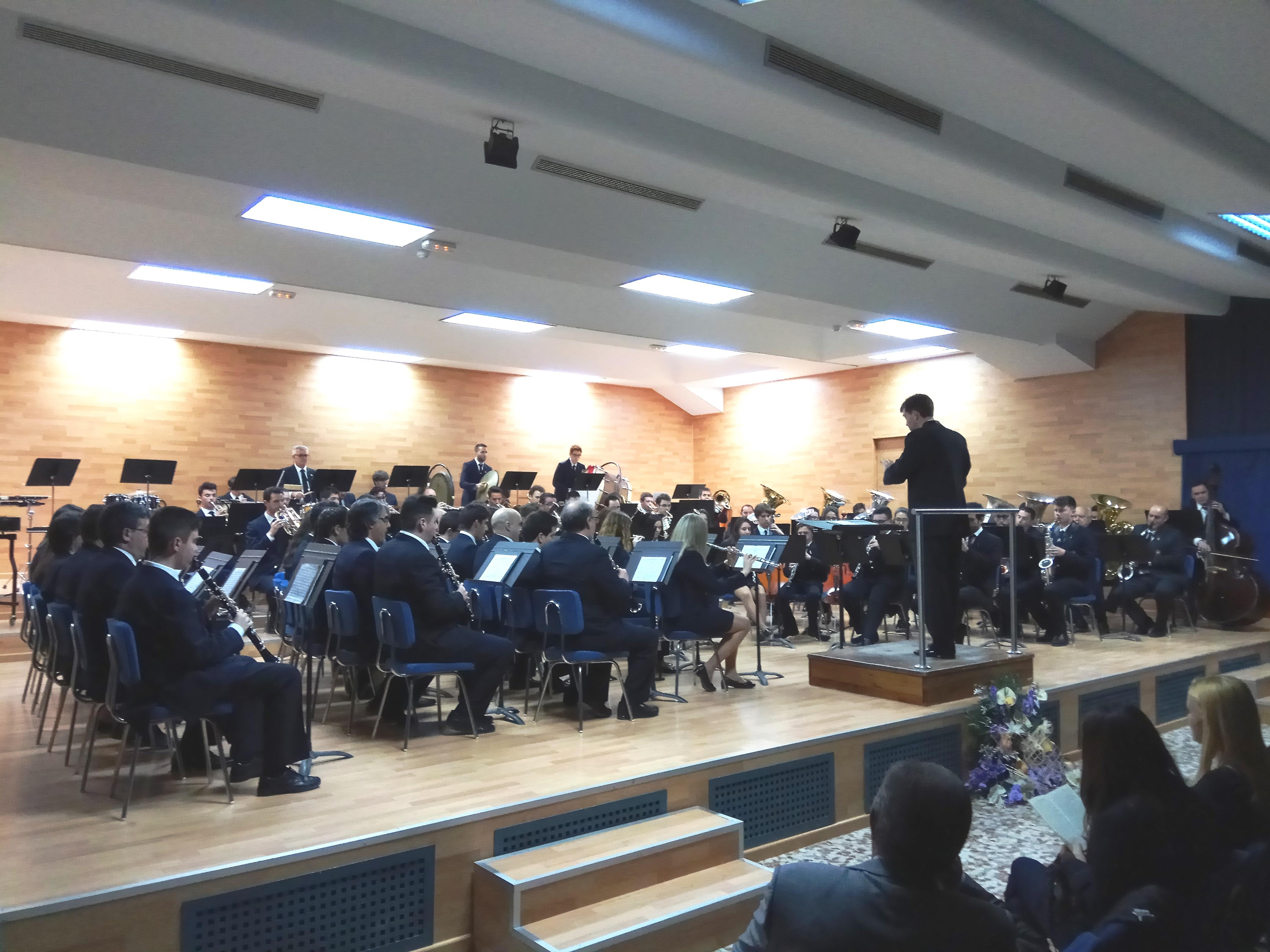 Banda sinfónica de la Unión Musical Santa Cecilia (UMSC) de Villar del Arzobispo.
