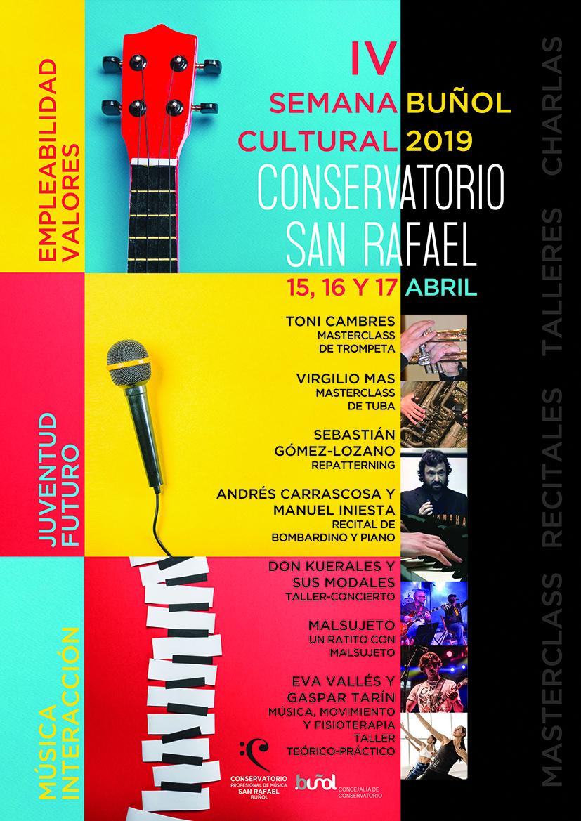 Cartel de la IV Semana Cultural del Conservatorio.