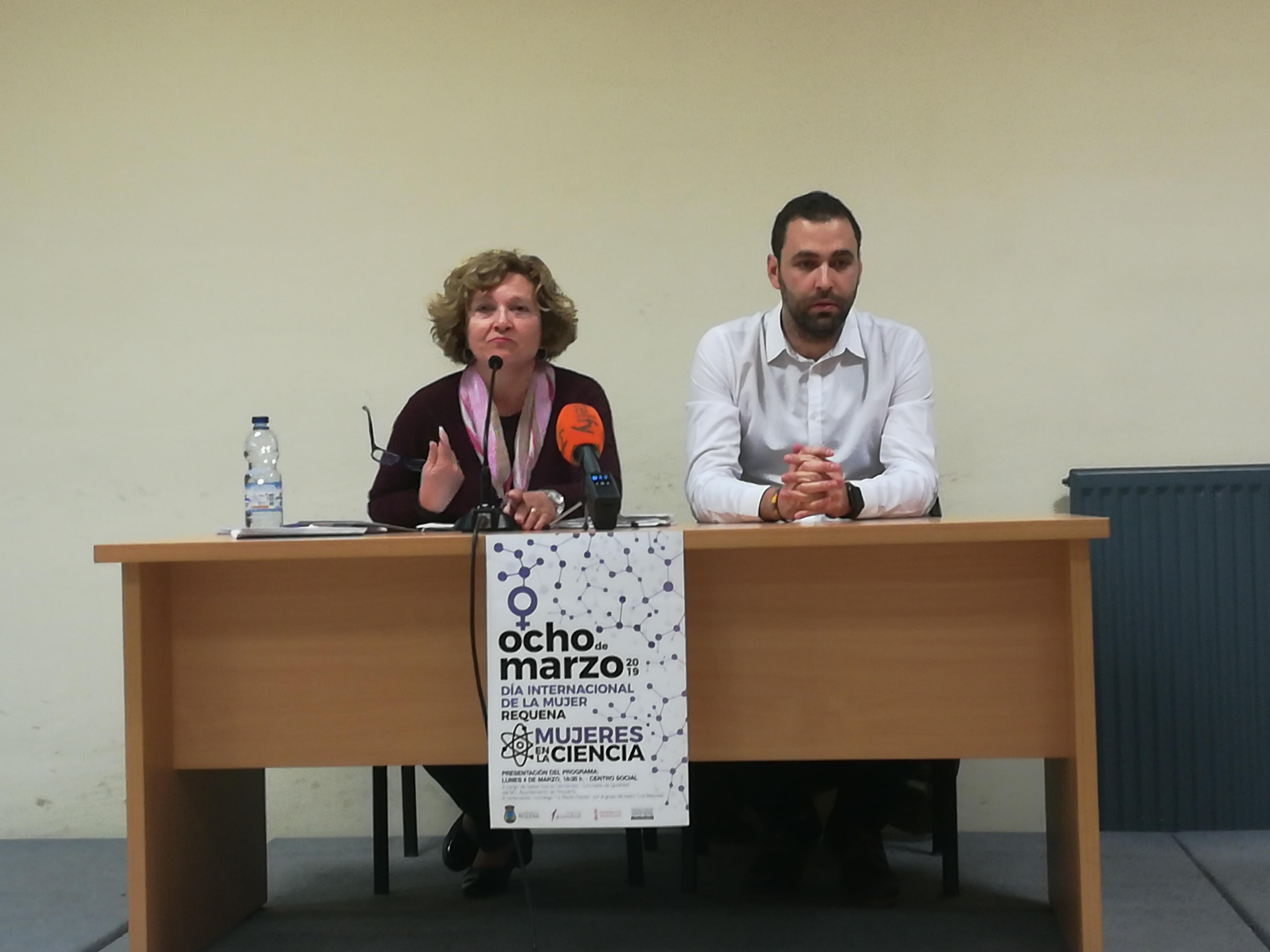 Presentación de la programación de actos para el Día Internacional de la Mujer en Requena