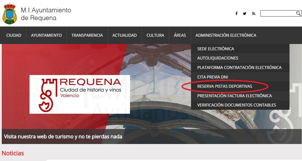 Cómo reservar pistas deportivas en Requena.