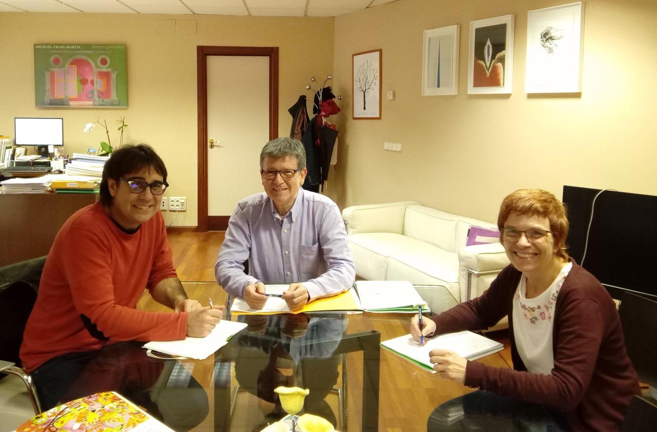 El Director General de Política Educativa, Jaume Fullana, con el Regidor de Educación, Voro Golfe.