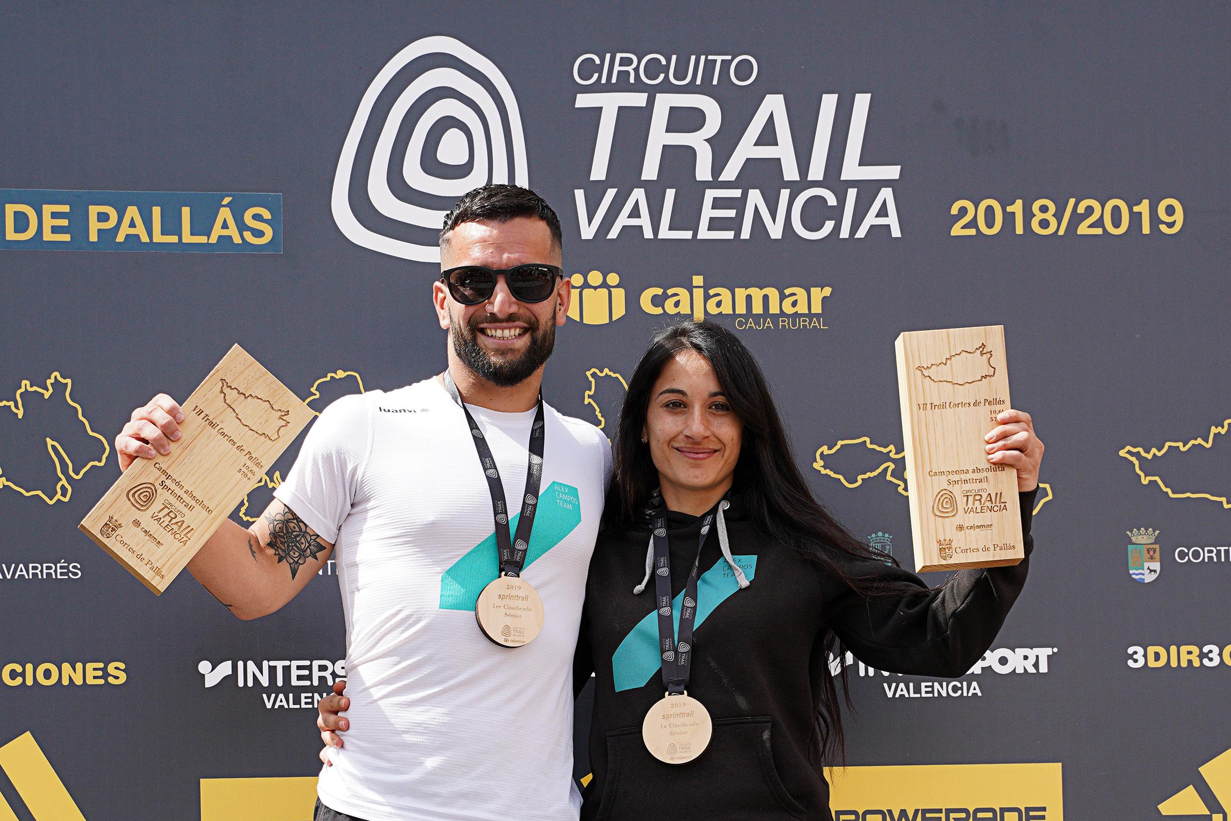 Ganadores sprinttrail y CTV18-19, hoy en Cortes de Pallás.