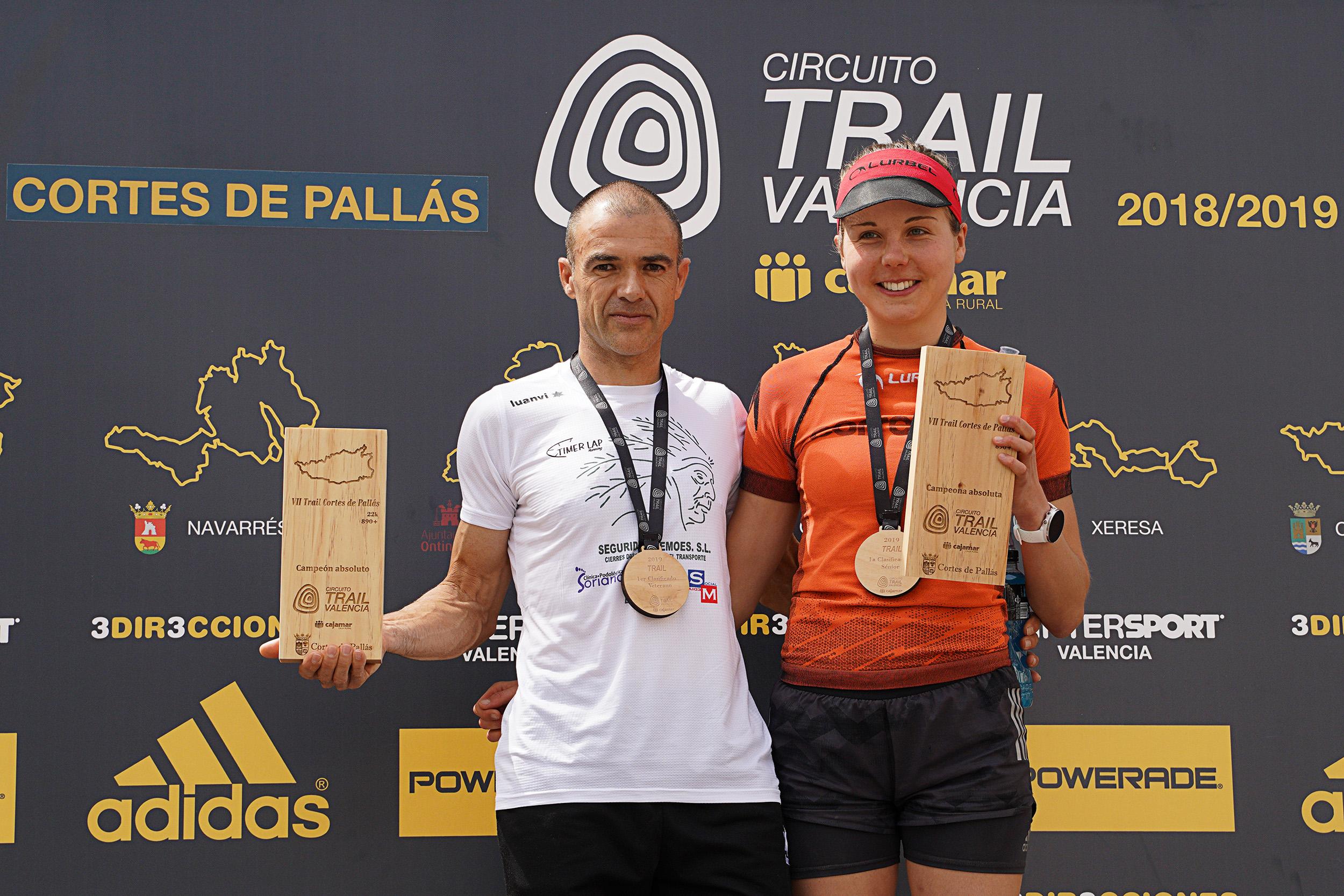 Ganadores del VII Trail de Cortes de Pallás.