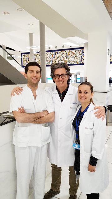 En el centro, el médico especialista en Urología, Gonzalo García Fadrique.