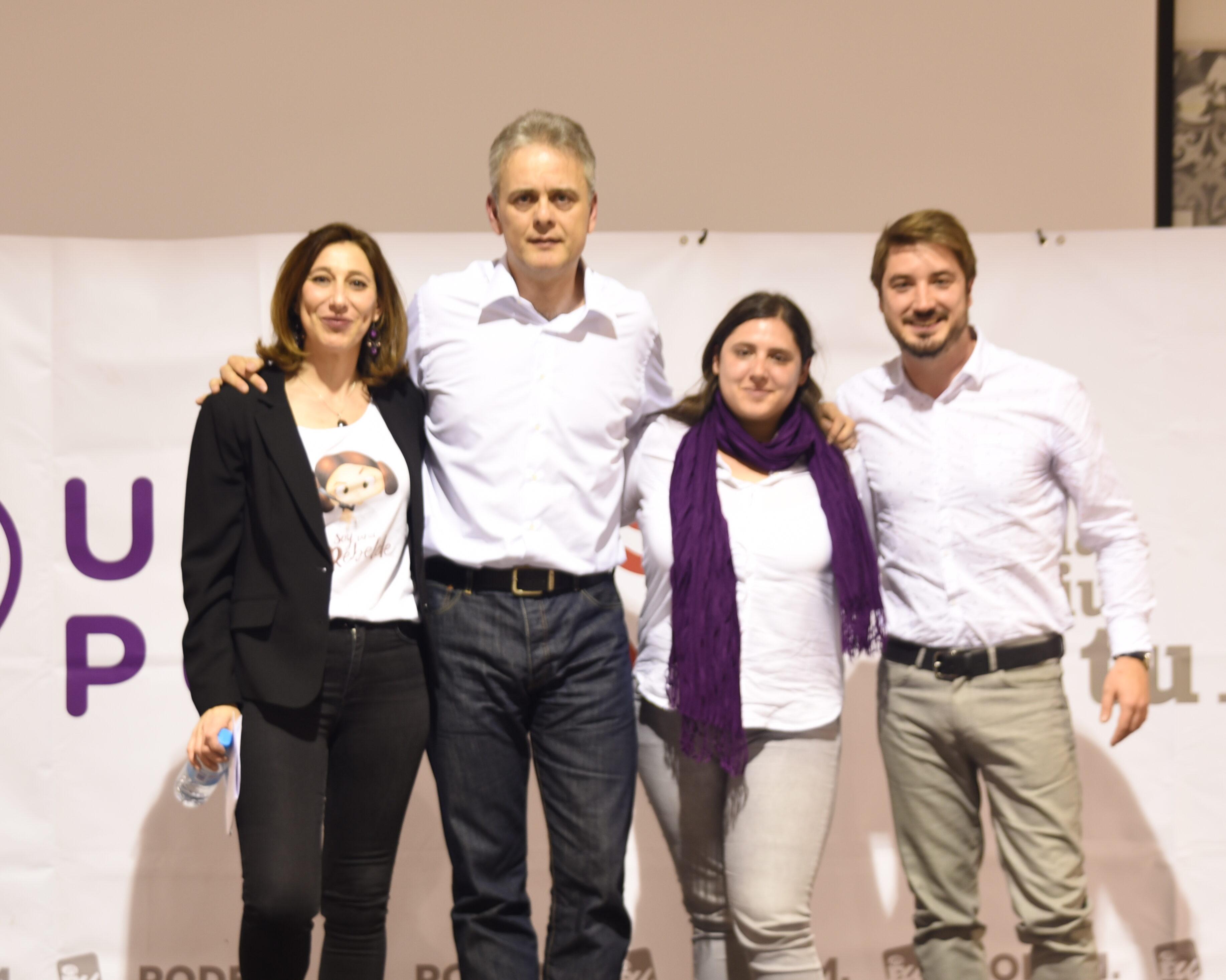 De izquierda a derecha, Mati Mas, Héctor Illueca, Roser, Maestro y Rafa Pérez.
