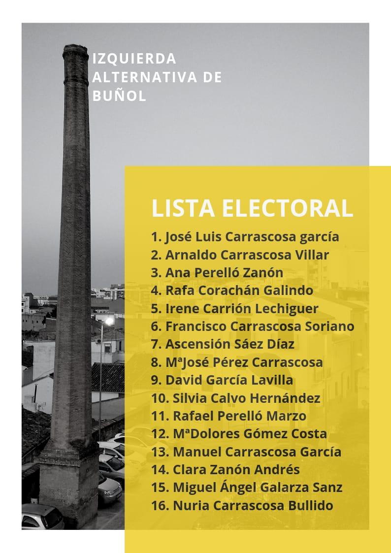 Candidatura de IAB a las elecciones municipales 2019.
