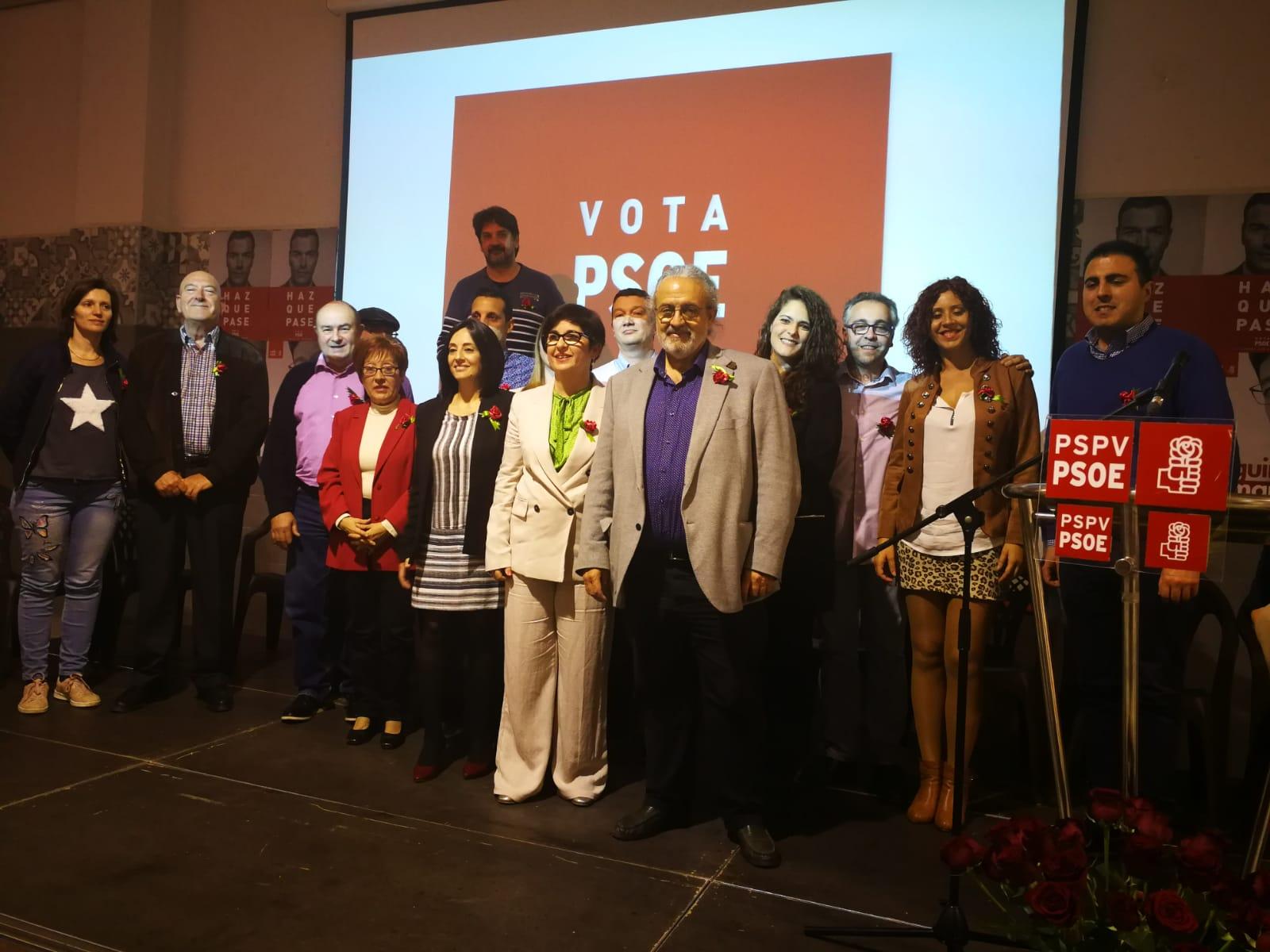 La candidatura que lidera Juncal Carrascosa contó con el apoyo de Pedro Rodríguez y de Rebeco Torró.