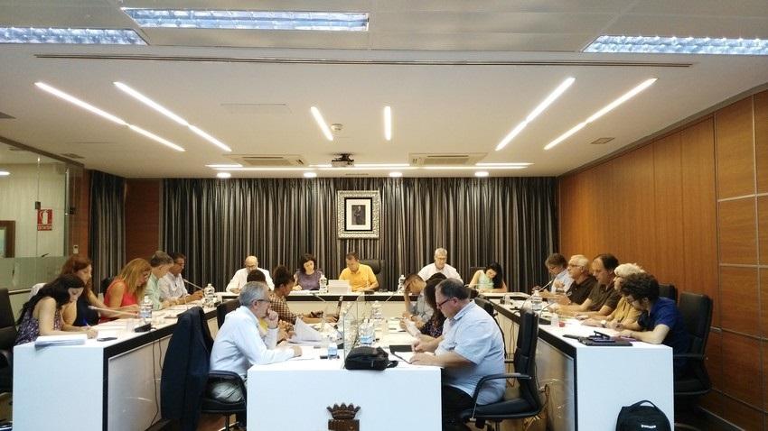 Sesión plenaria del Ayuntamiento de Riba-roja.