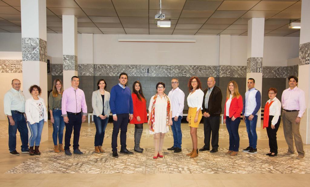 Foto de los candidatos del PSPV-PSOE de Buñol a las Elecciones Municipales.