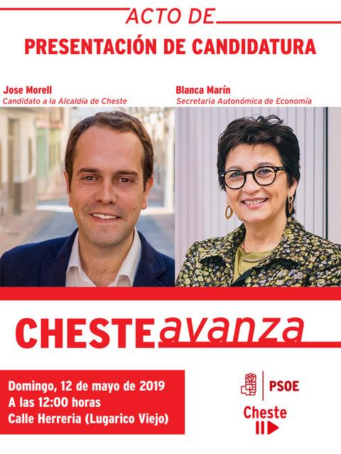 Acto de presentación de la candidatura del PSPV-PSOE de Cheste.