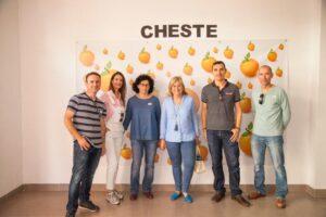 Integrantes de la candidatura de Cheste.