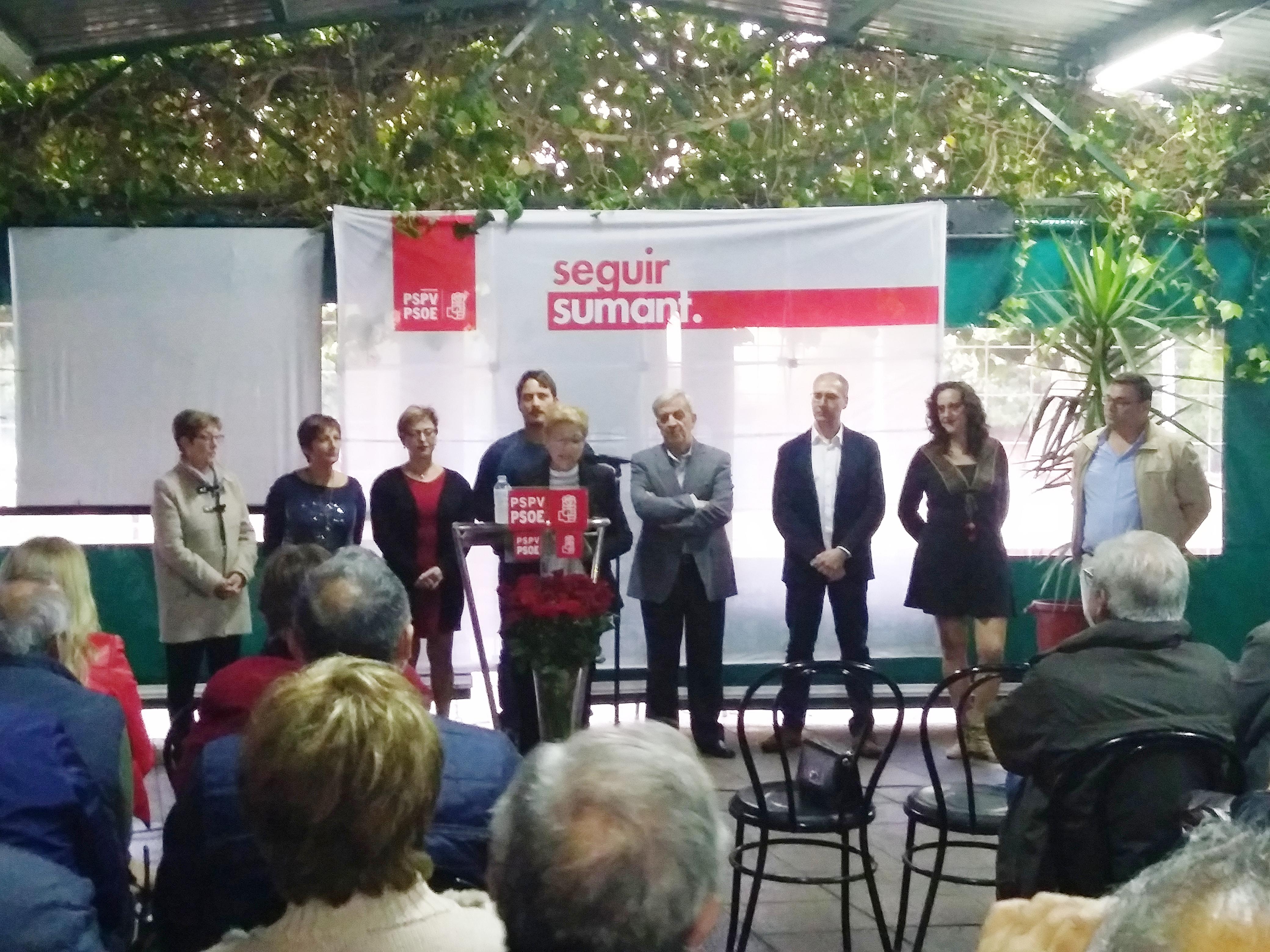 EL PSPV-PSOE de Alborache presenta a Paqui Collado como candidata a la alcaldía.
