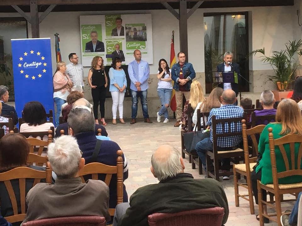 Hoy «Contigo somos democracia» ha dado a conocer los proyectos del candidato a la Alcaldía, Ángel Merenciano.