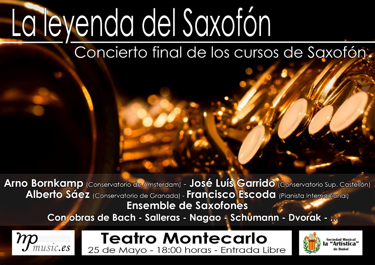 """El concierto """"La leyenda del saxofón"""" tendrá como estrella principal a Arno Bornkamp (profesor del Conservatorio de Amsterdam)."""