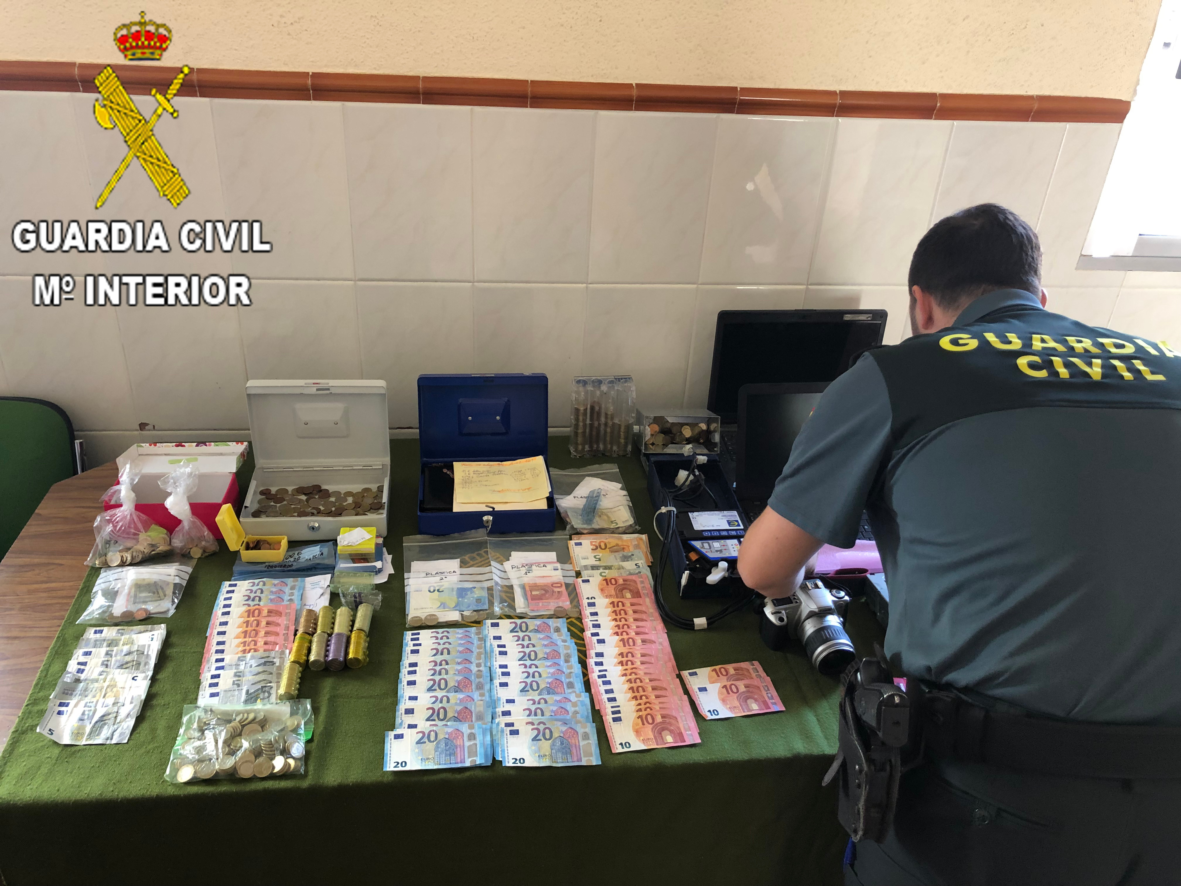 Material recuperado por la Guardia Civil.