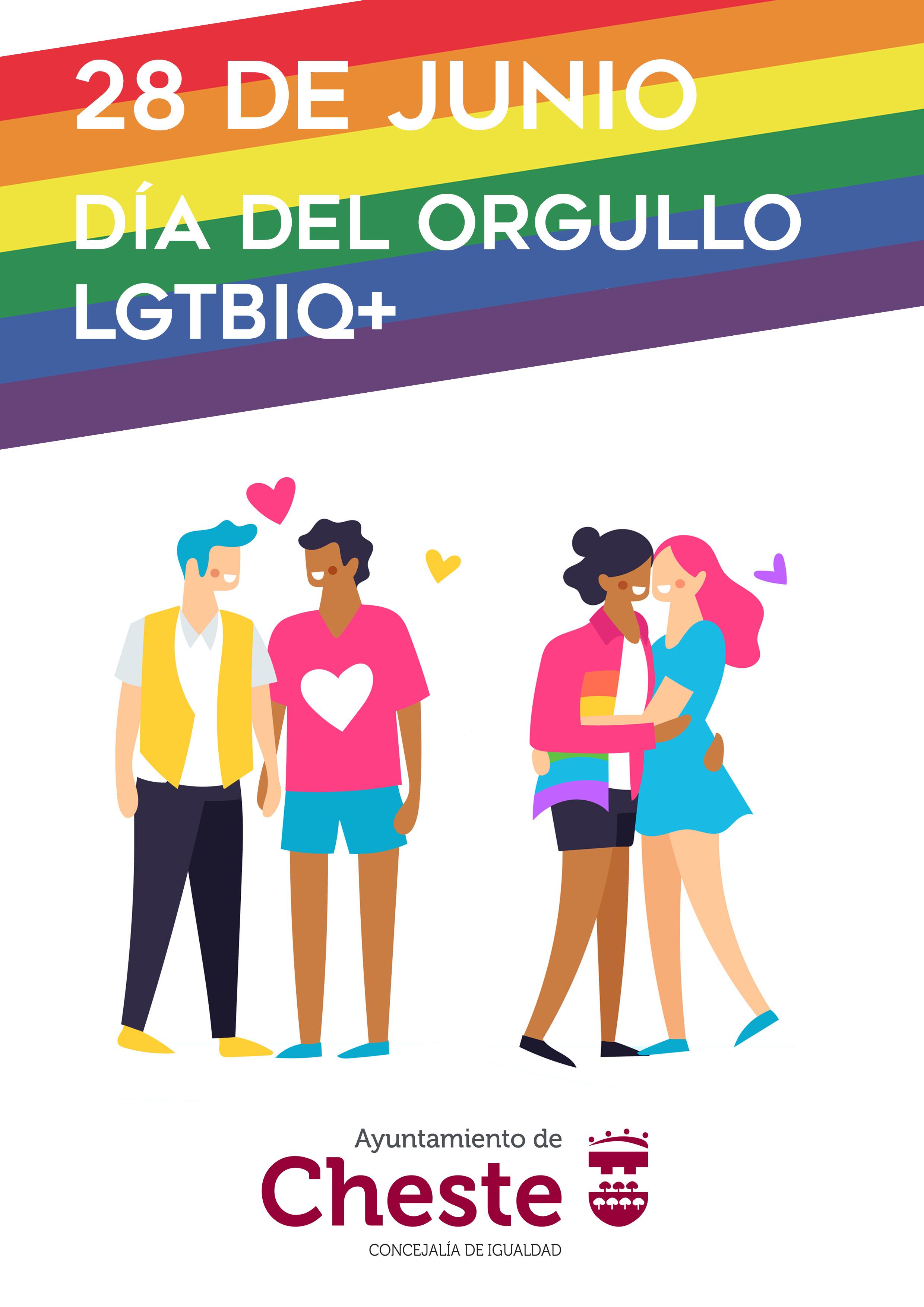 El Ayuntamiento impulsa una campaña con motivo de la celebración del Día del Orgullo LGTBI.