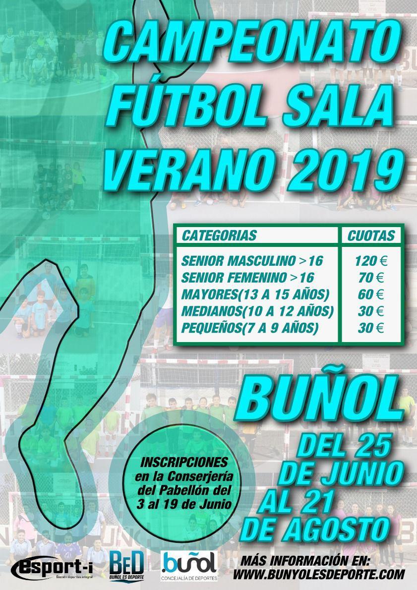 La Concejalía de Deportes de Buñol organiza un año más el Campeonato de Fútbol Sala y la Escuela Multideporte para este verano.