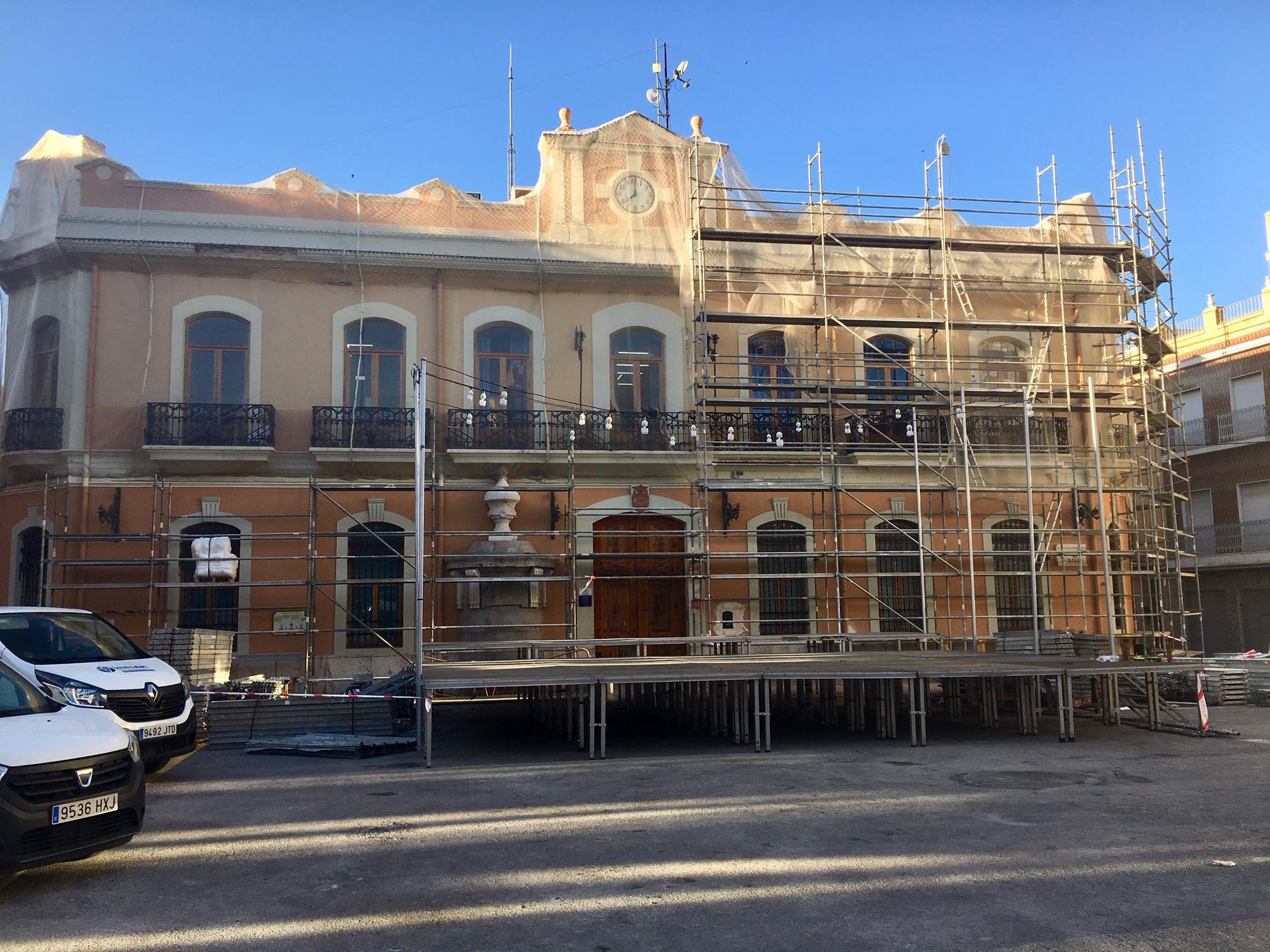 Fachada del Ayuntamiento de Cheste.