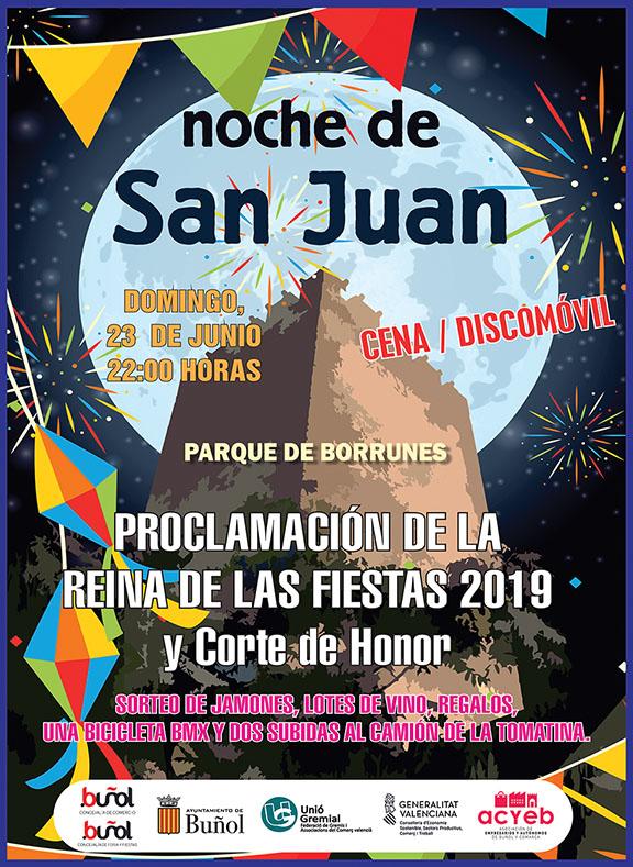 El próximo domingo a partir de las 22,00 h. en el parque de Borrunes.