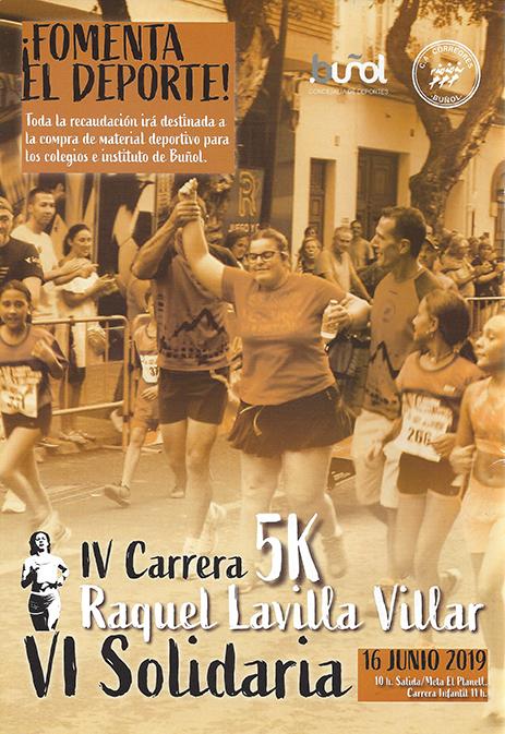 Este domingo el Planell de Buñol alberga la IV Carrera 5K Raquel Lavilla Villar y VI Solidaria.