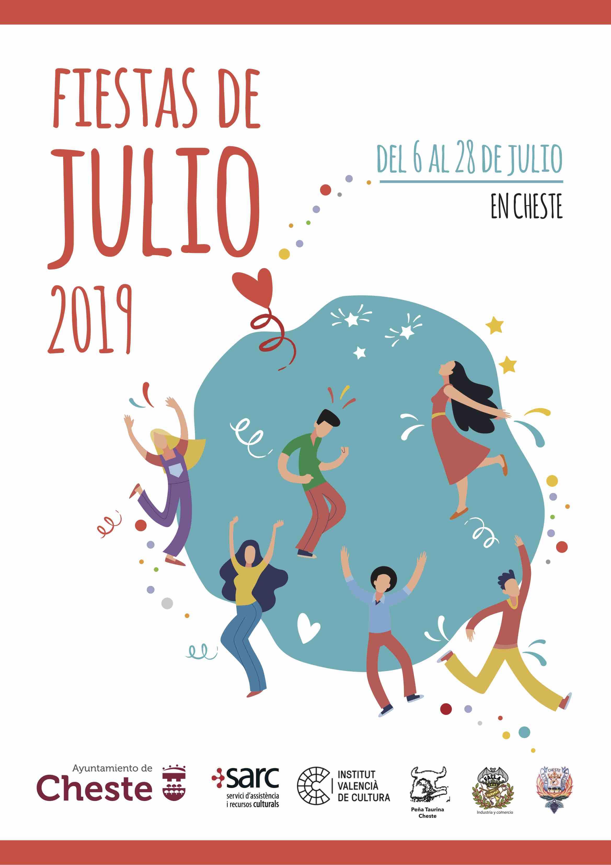 Cheste comienza la cuenta atrás para las Fiestas de Julio 2019.