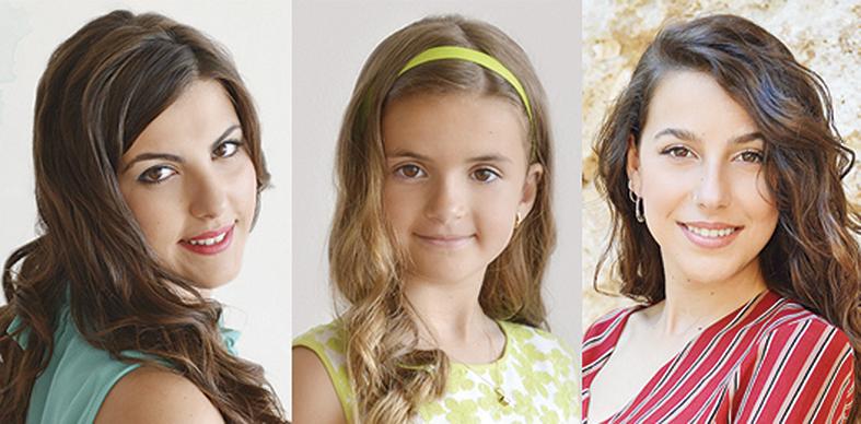 Esther Furriol, Miss Armónica; Gema Clemente, Miss Armónica Infantil; y Paula Ramón, Representante de «La Armónica».