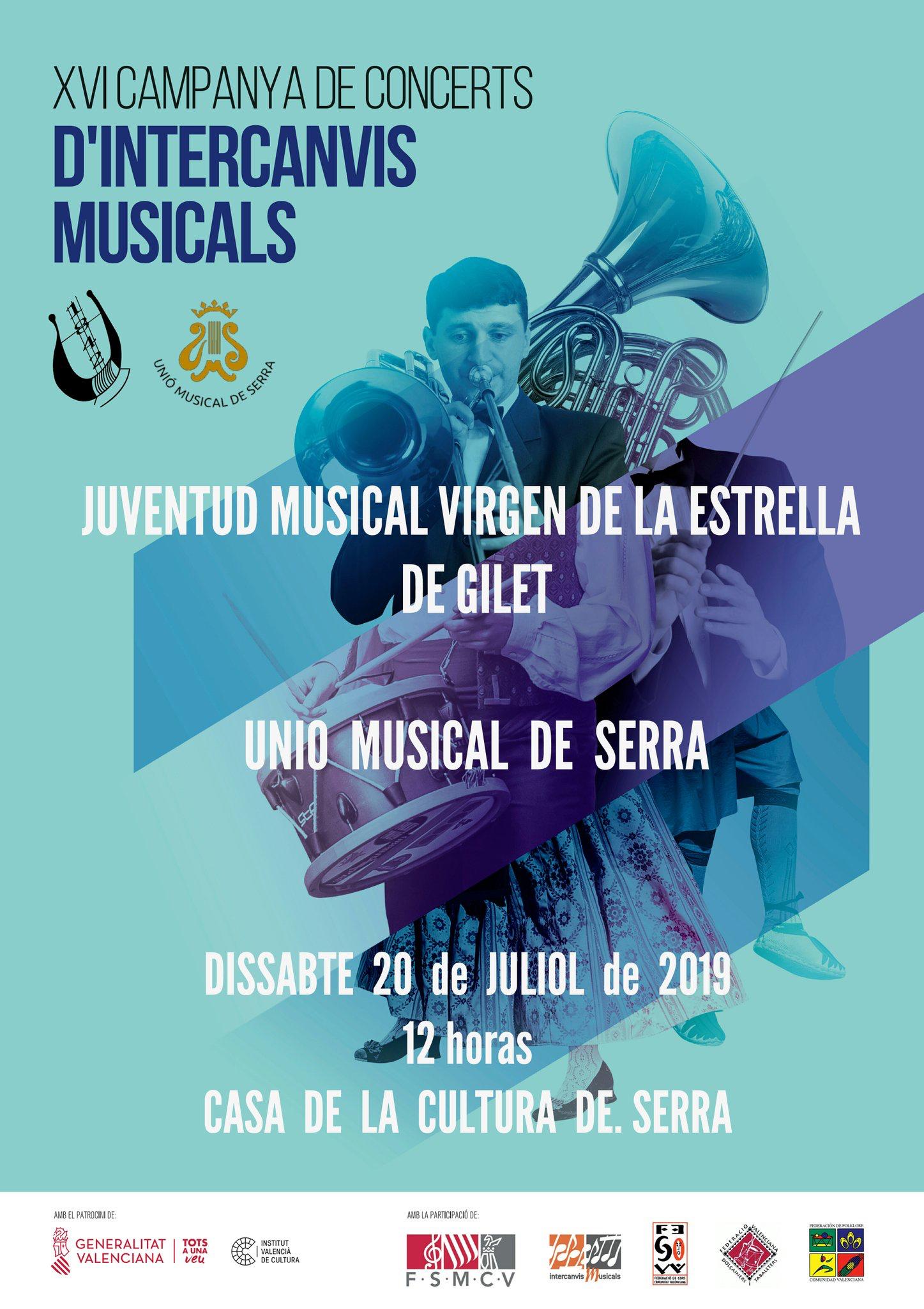 Concierto Intercambio Musical con la banda de Gilet como invitada.