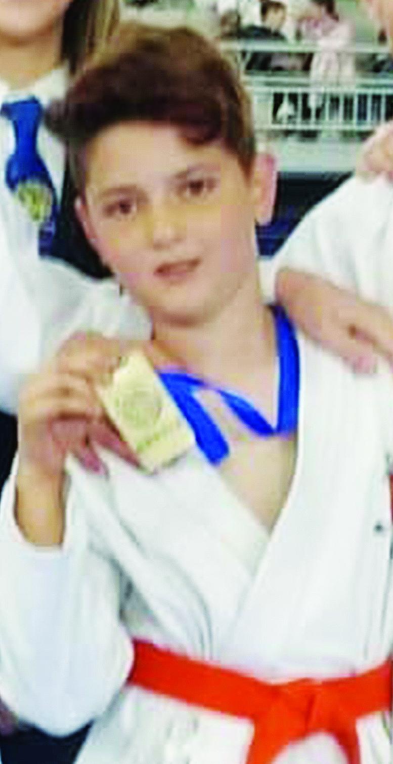 El joven karateka buñolense.