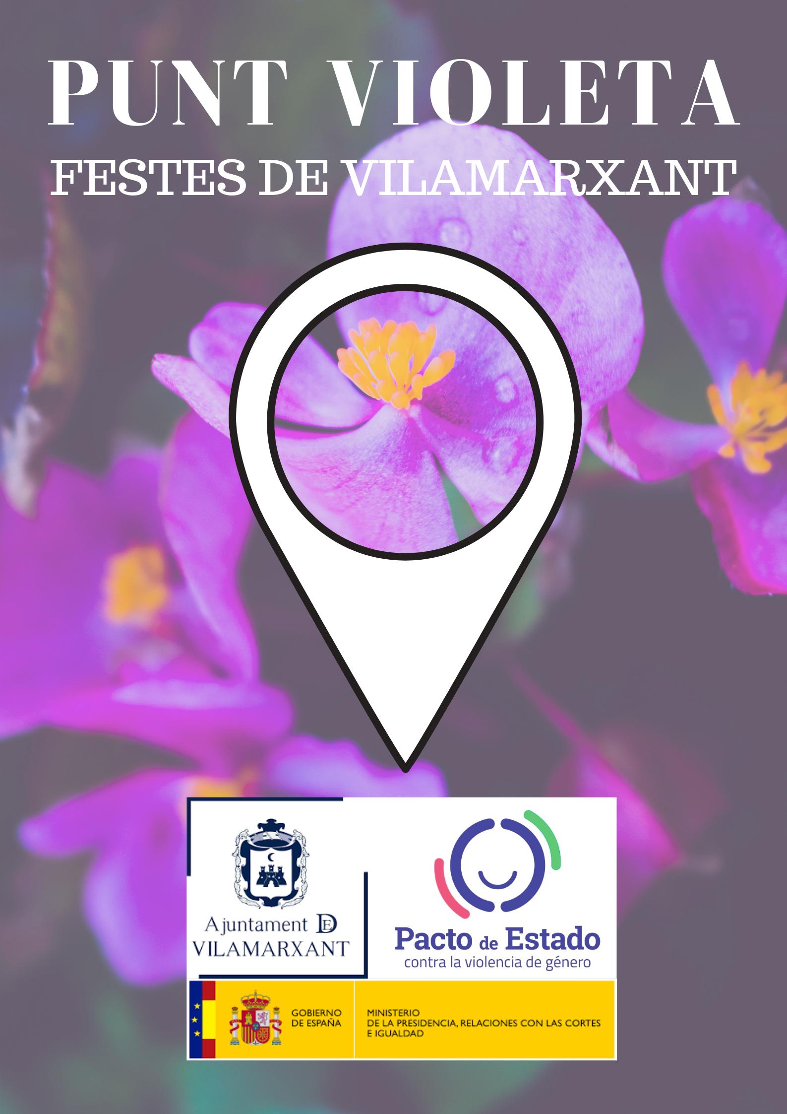 La Concejalía de Igualdad del Ayuntamiento de Vilamarxant ha creado un Punto Violeta durante las fiestas patronales para luchar contra la violencia de género en la localidad del Camp de Túria.