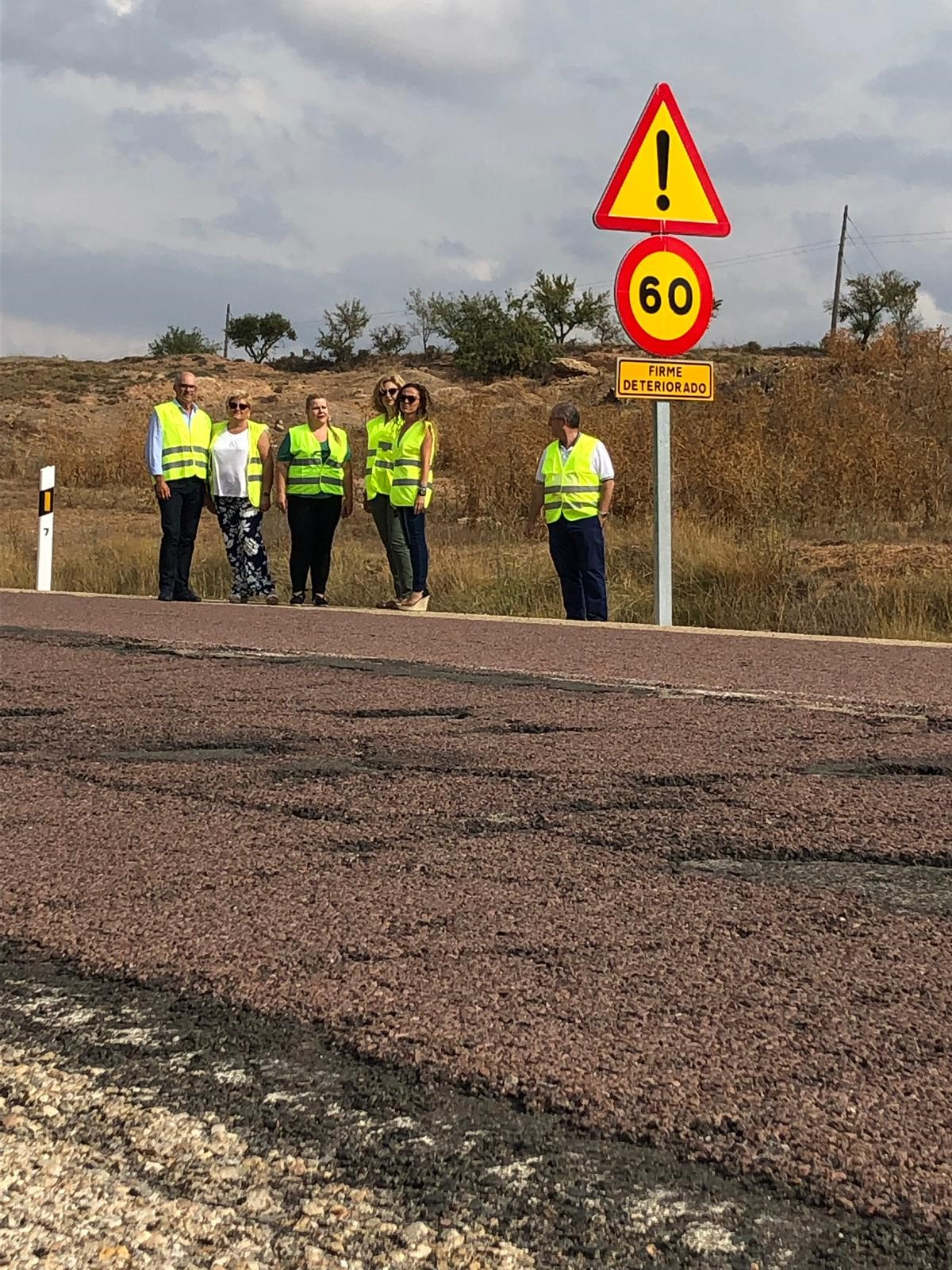 De Rosa denuncia el mal estado de mantenimiento de las carreteras nacionales dependientes del Ministerio de Fomento en la provincia de Valencia