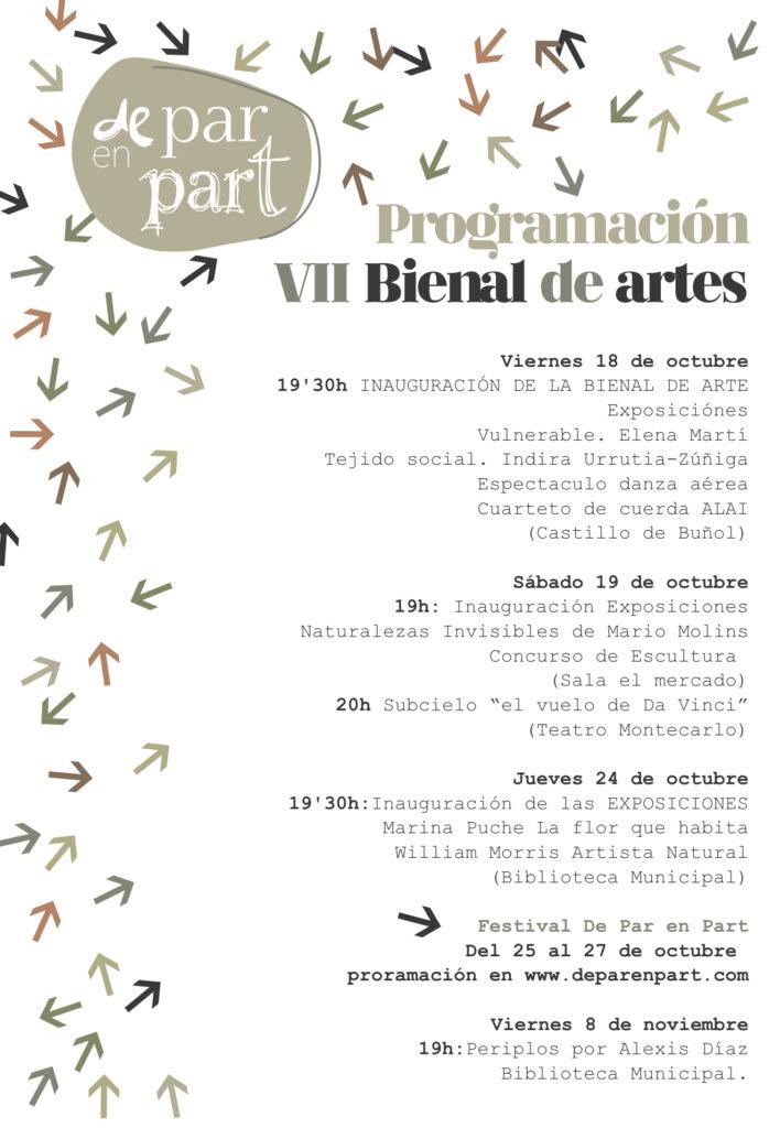Buñol se cita con el arte en la VII Bienal de Arte y Diseño y en el III Festival De Par en Part 2019.