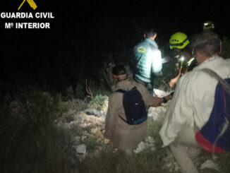 La Guardia Civil ha procedido al auxilio de un varón y una mujer de 69 años, ambos españoles, que se encontraba desorientados y sin poder salir de un sendero que conduce hacia la Cueva de Tesoro de Chulilla.
