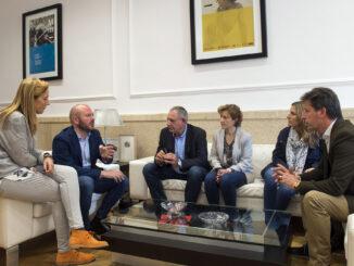 La Mancomunitat d'Alcàntera de Xúquer, Càrcer, Cotes i Sellent se reúne con los responsables de la Diputació.