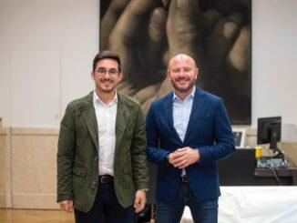 Héctor Troyano con el Presidente de la Diputació de València, Toni Gaspar.