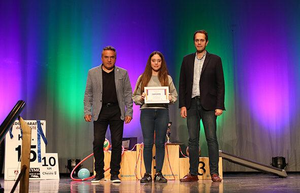 Gala del deporte de Cheste, autoridades con Paula Romero.